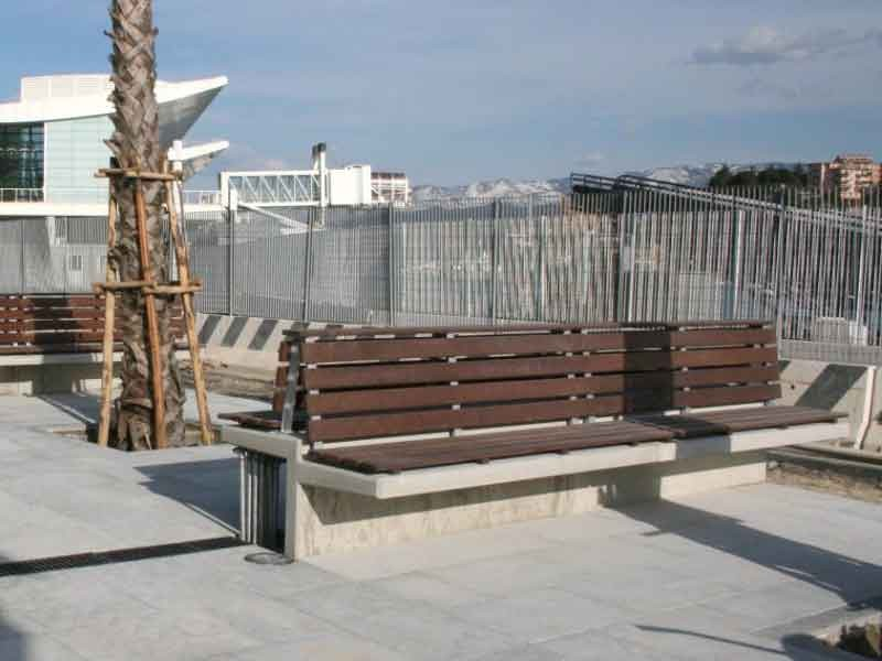 Concrete Benches With Backs