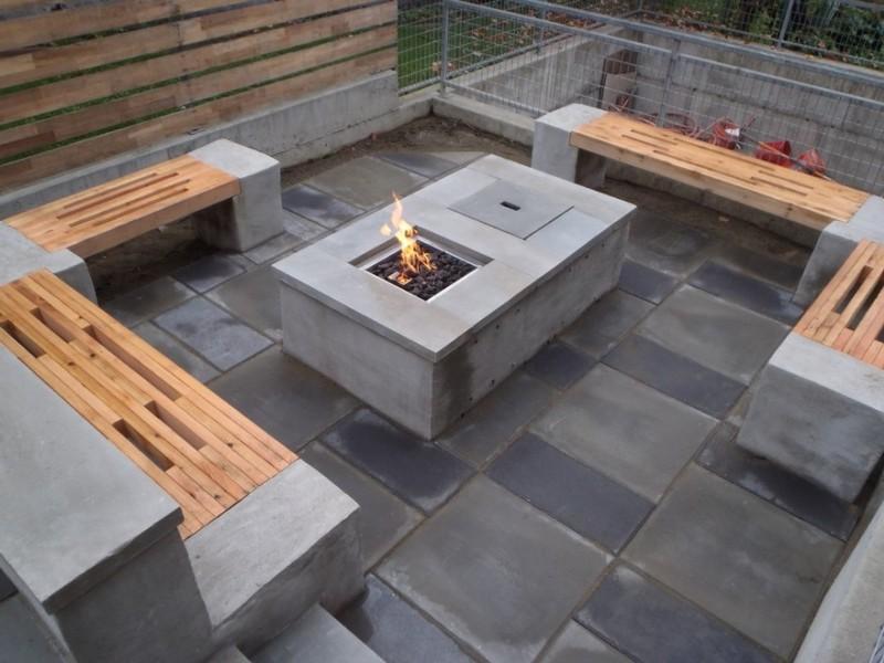 Concrete Garden Table And Benches
