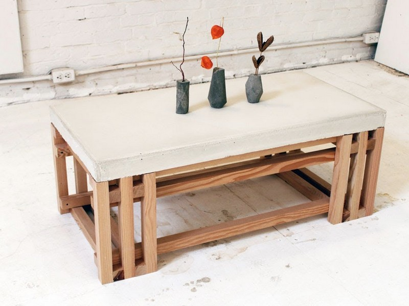 Concrete Kitchen Table Diy