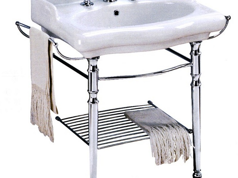 Console Bathroom Sinks With Chrome Legs