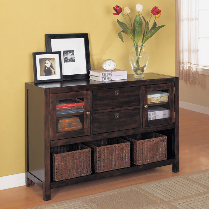 Console Table With Shelves