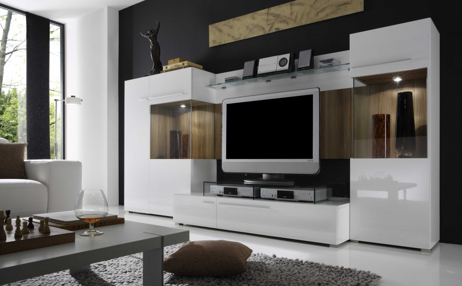 Contemporary Entertainment Centers Wall Units