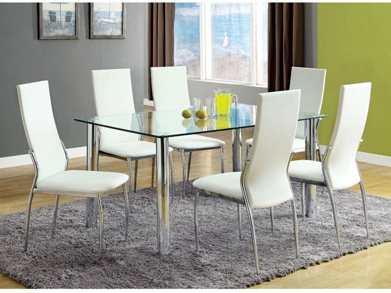 Contemporary Glass Top Dining Room Sets
