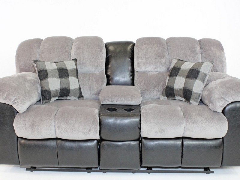 Contemporary Reclining Leather Sofa