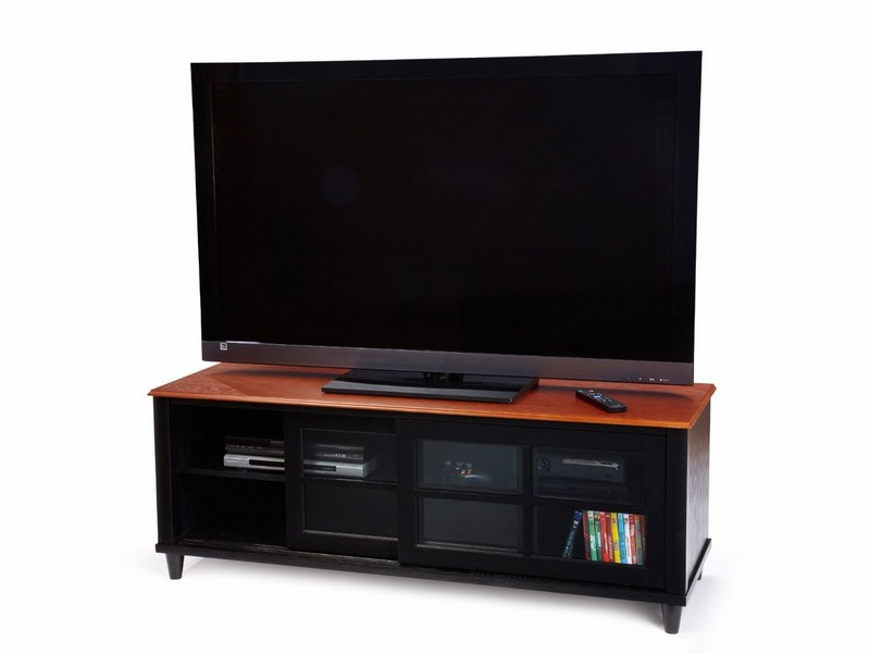Convenience Concepts Tv Stand With 2 Cabinets Espresso