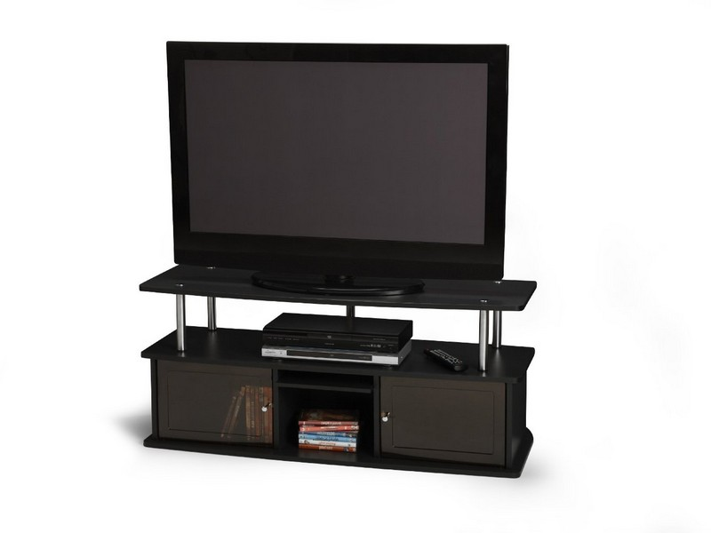 Convenience Concepts Tv Stand With 3 Cabinets Black