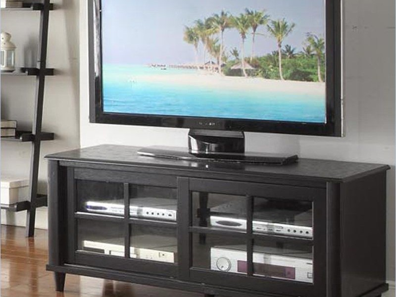 Convenience Concepts Tv Stand With Glass Doors