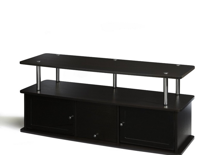 Convenience Concepts Tv Stand With Three Cabinets For Tvs Up To 50