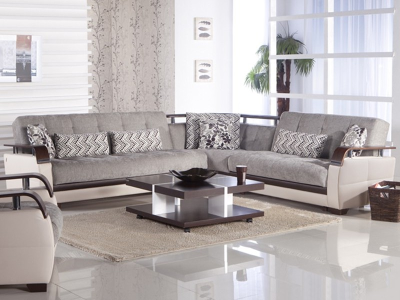 Convertible Sectional Sofa Set With Storage