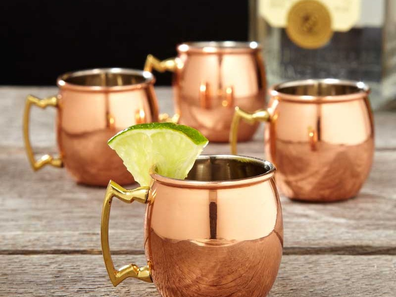 Copper Mugs For Moscow Mule Drinks