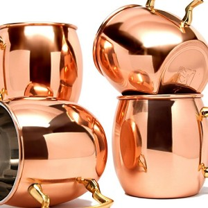 Copper Mugs Set Of 4