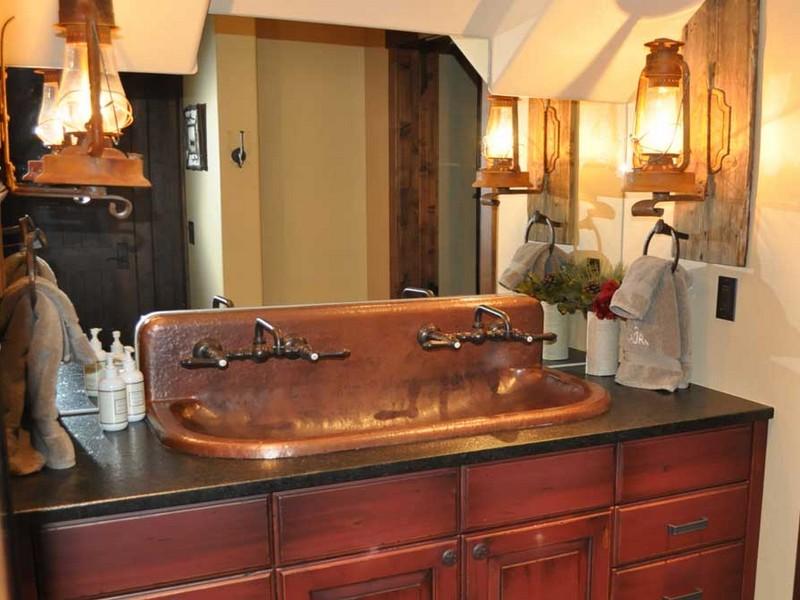 Copper Trough Sink Bathroom