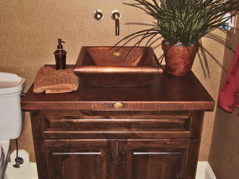 Copper Vessel Bathroom Sinks