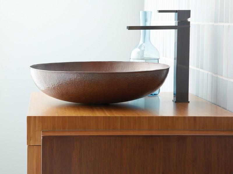 Copper Vessel Sinks Bathroom