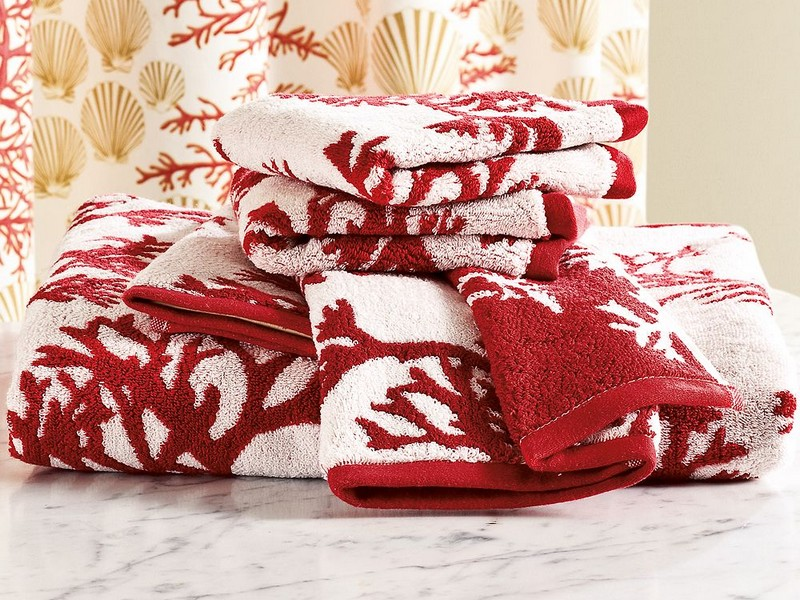 Coral Bath Towels Pottery Barn