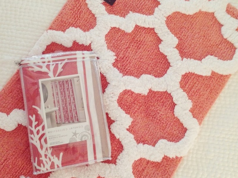 Coral Colored Bathroom Accessories