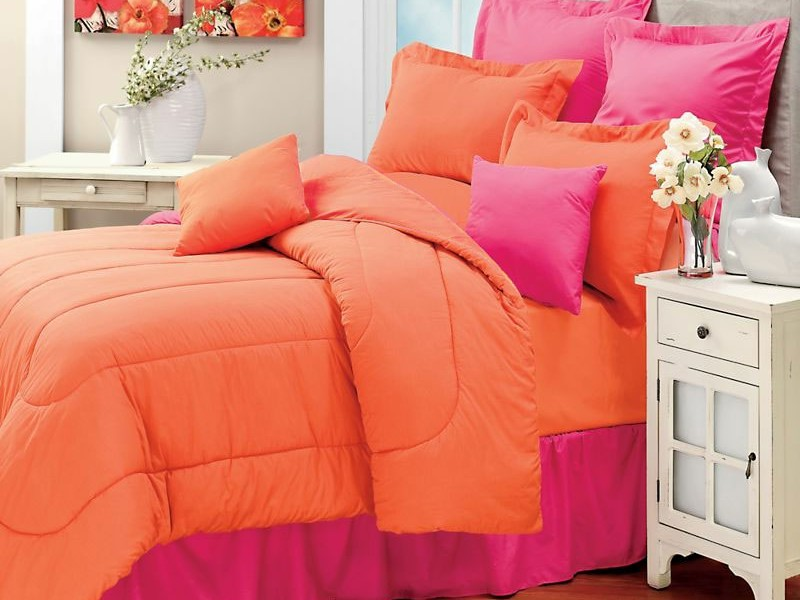 Coral Colored Bed Sheets
