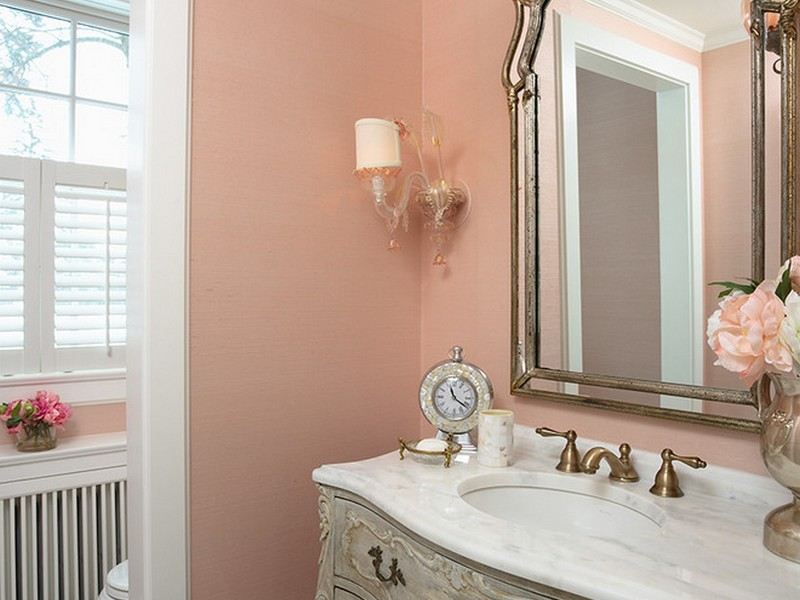 Coral Pink Bathroom Accessories