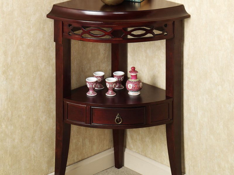 Corner Accent Tables Espresso
