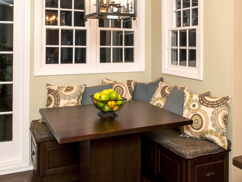 Corner Banquette Seating With Storage
