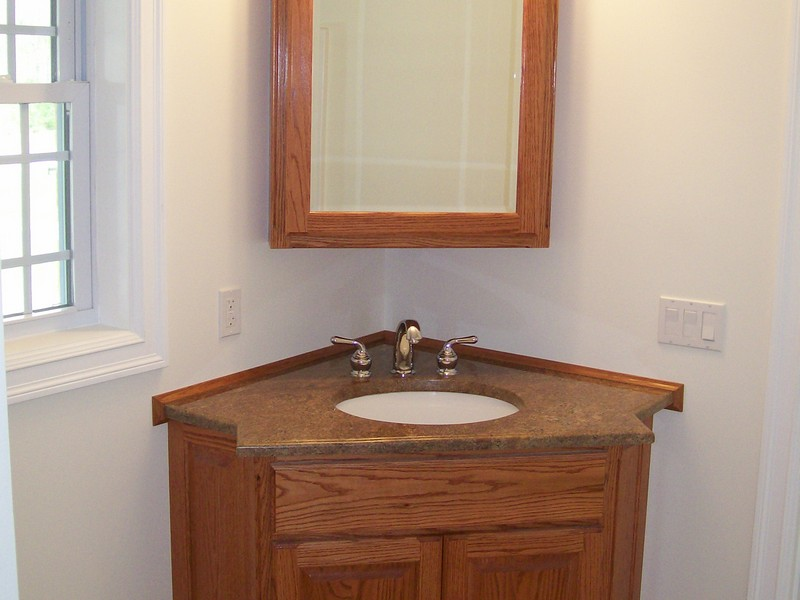 Corner Bathroom Cabinet With Mirror And Light