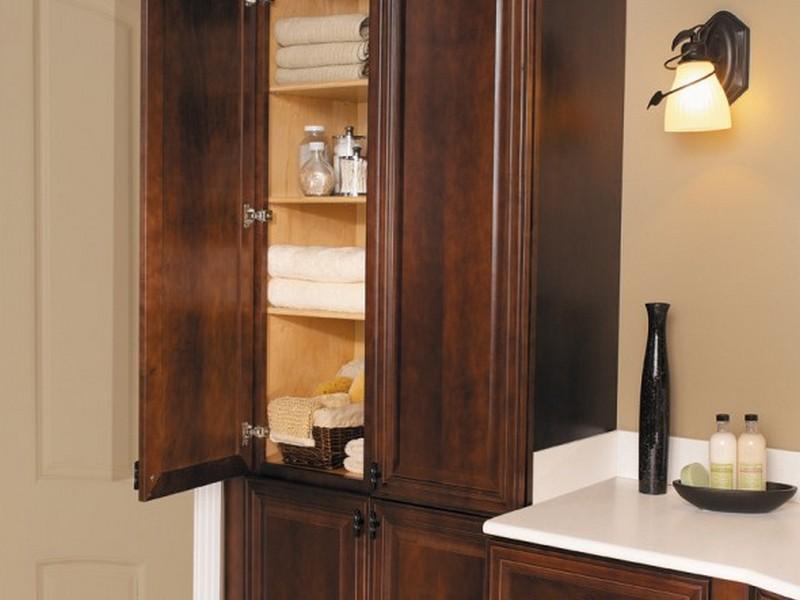 Corner Bathroom Linen Cabinet