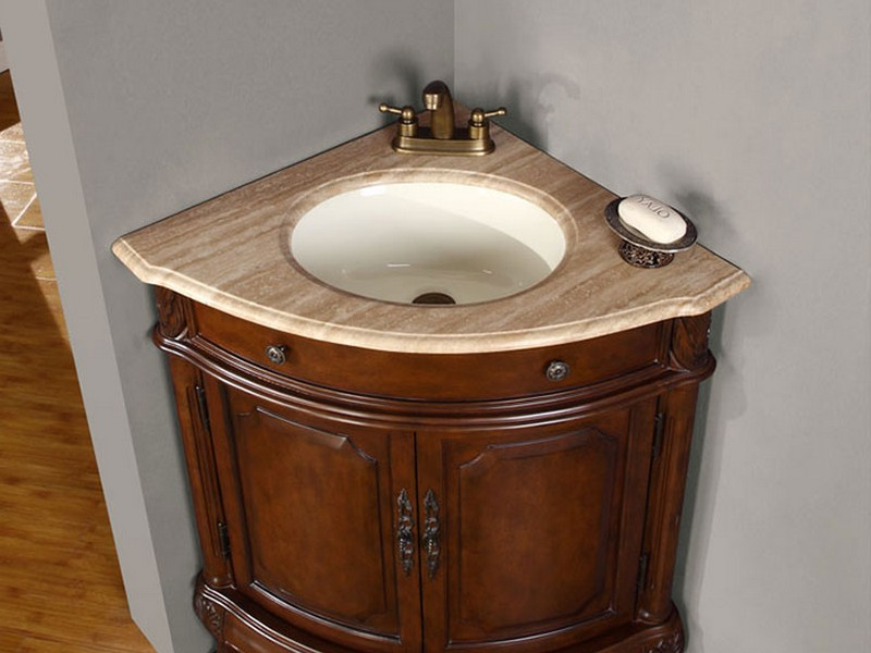 Corner Bathroom Sinks With Cabinet