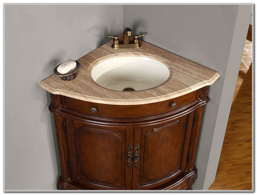 Corner Bathroom Vanities And Cabinets