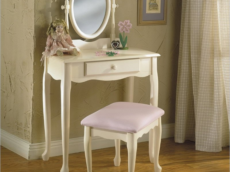 Corner Makeup Vanity Table