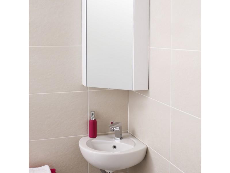Corner Mount Bathroom Mirror