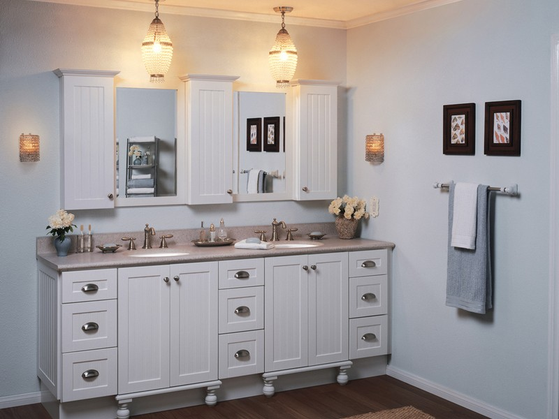 Cottage Style Bathroom Vanity White