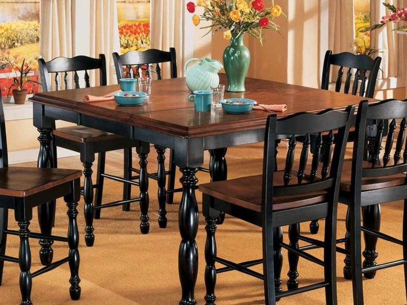 Counter Height Farm Table Island