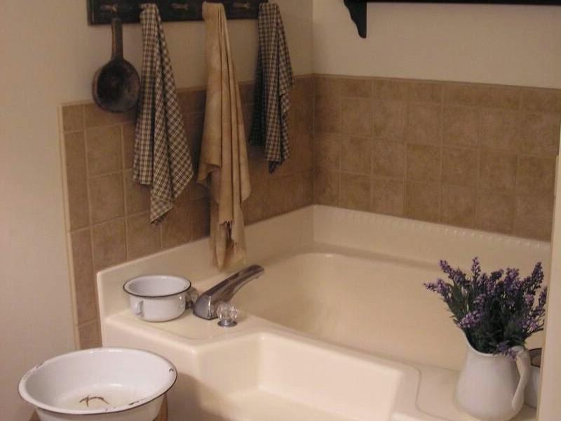 Country Primitive Bathroom Decorating Ideas
