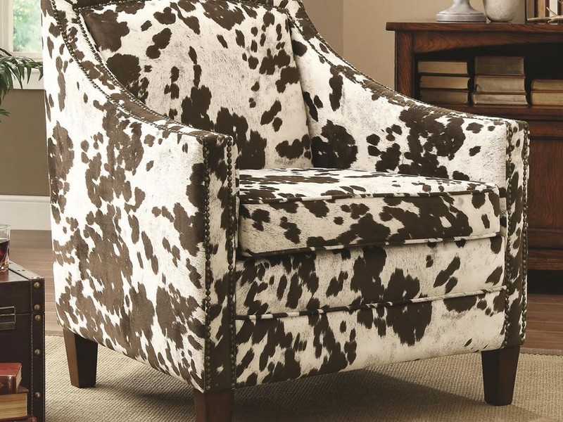 Cow Print Accent Chair