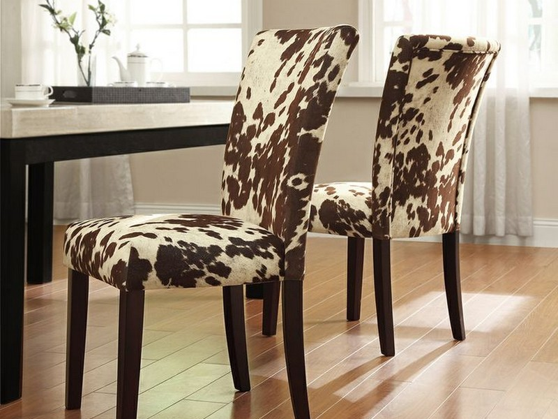 Cow Print Dining Chairs