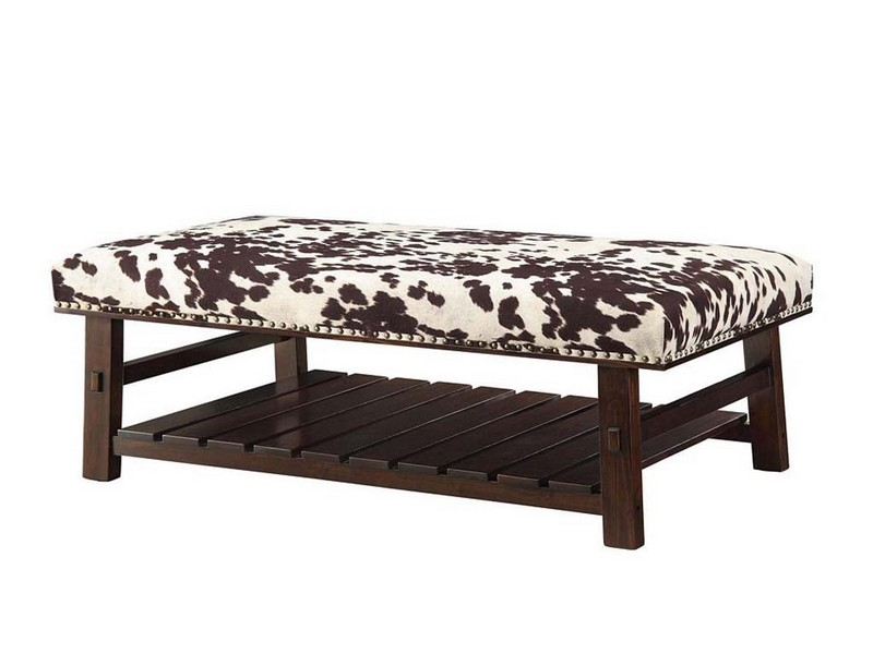 Cow Print Ottoman
