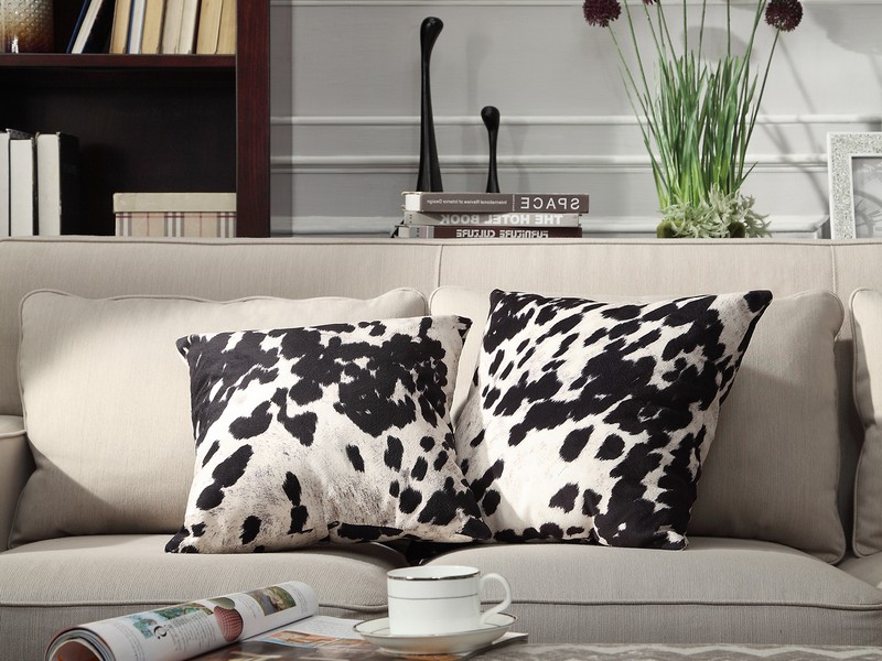 Cow Print Pillows Set Of 2