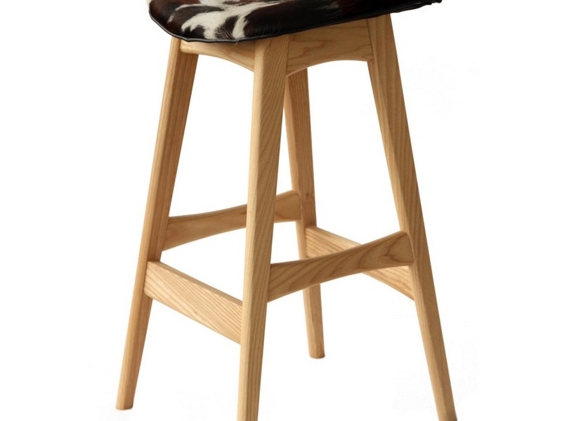 Cowhide Bar Stools With Backs