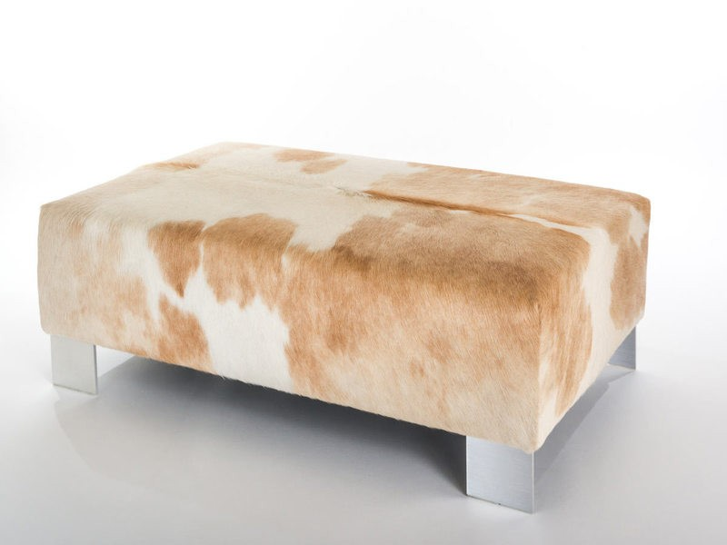 Cowhide Ottoman Rectangle