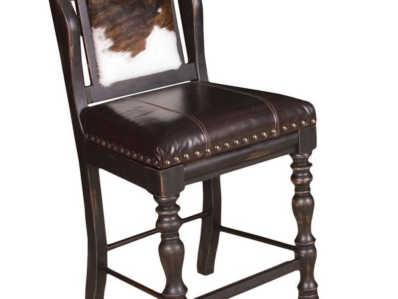 Cowhide Swivel Bar Stools