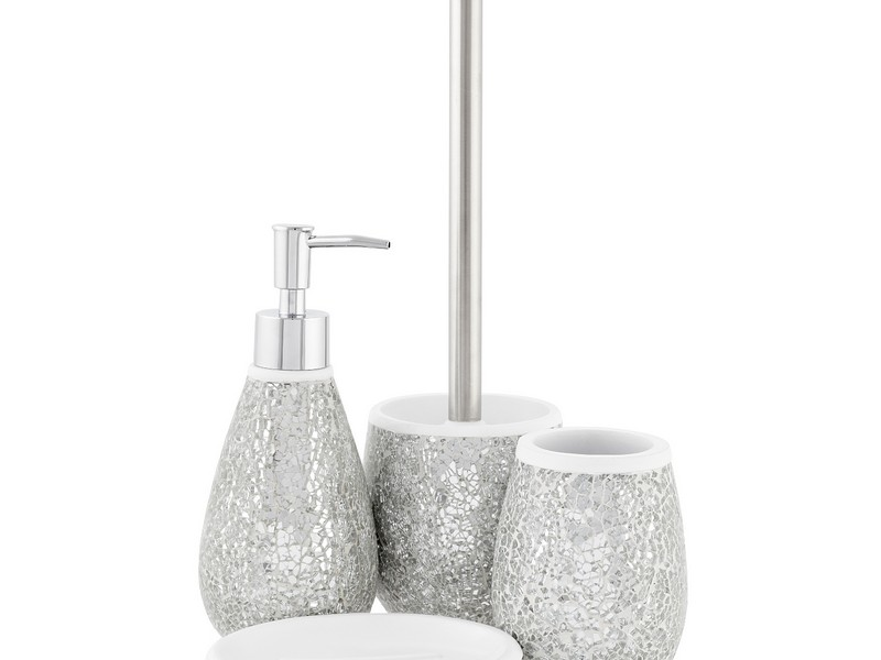 Crackle Mosaic Bathroom Accessories
