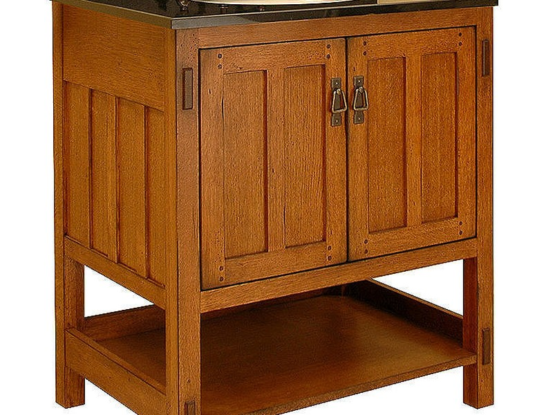 Craftsman Bathroom Vanity Cabinets