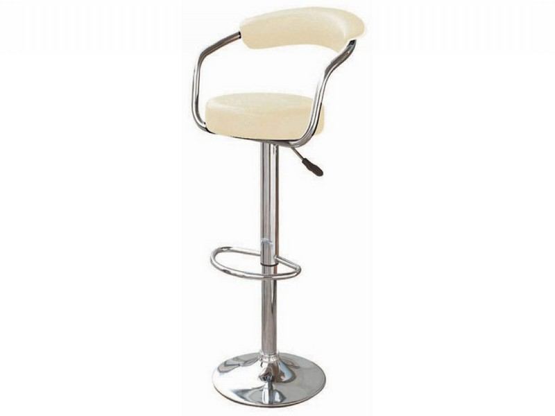 Cream Faux Leather Bar Stools