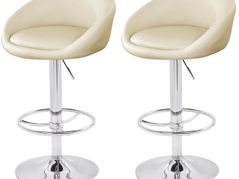 Cream Leather Bar Stools Uk