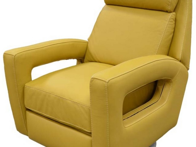 Cream Leather Reclining Chairs