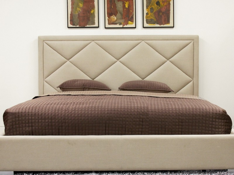 Cream Tufted Headboard Queen