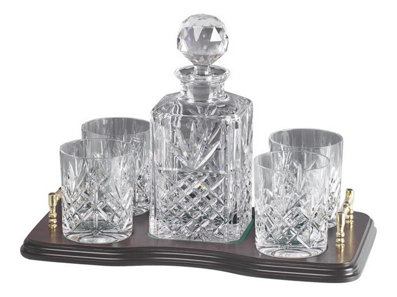 Crystal Scotch Decanter And Glass Set