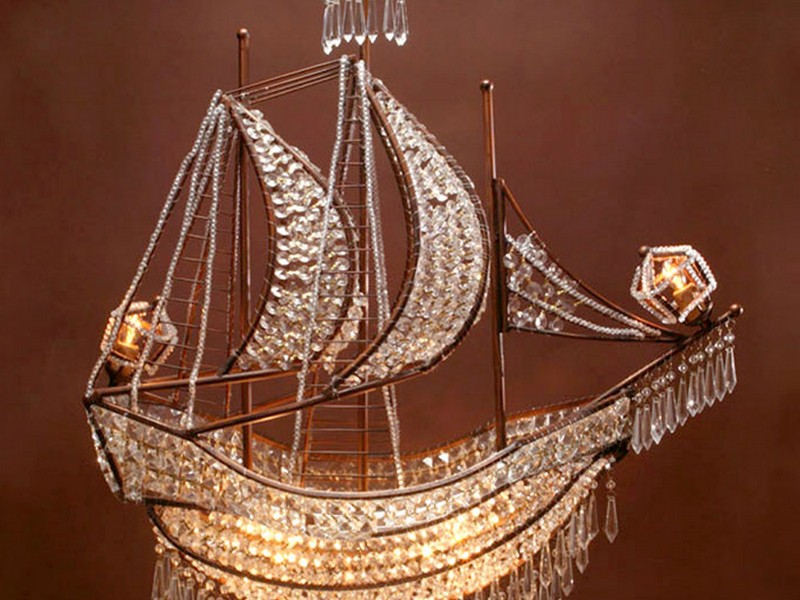 Crystal Ship Chandelier Horchow