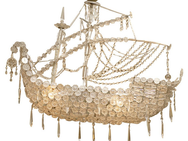 Crystal Ship Chandelier