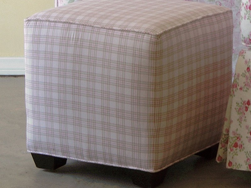Cube Ottoman Slipcover